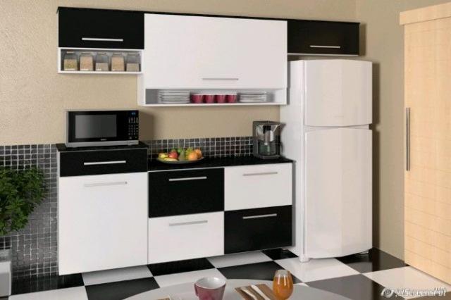 Adesivo De Anticoncepcional Engorda ~ Dicas armários de cozinha preto e branco Decorando Casas