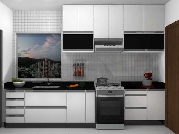 Dicas armários de cozinha preto e branco  Decorando Casas # Armario De Cozinha Branco E Verde