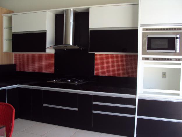 Dicas armários de cozinha preto e branco Decorando Casas