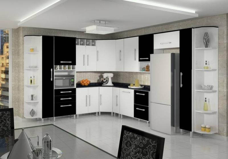 #474331 Dicas armários de cozinha preto e brancoDecorando Casas 800x560 px Armario De Cozinha Em L #3004 imagens