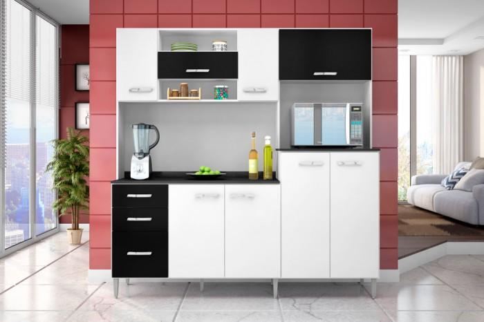 Aparador Antigo Mercado Livre ~ Dicas armários de cozinha preto e branco Decorando Casas