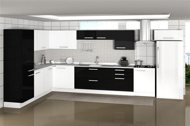 Aparador Mdf Cru ~ Dicas armários de cozinha preto e branco Decorando Casas