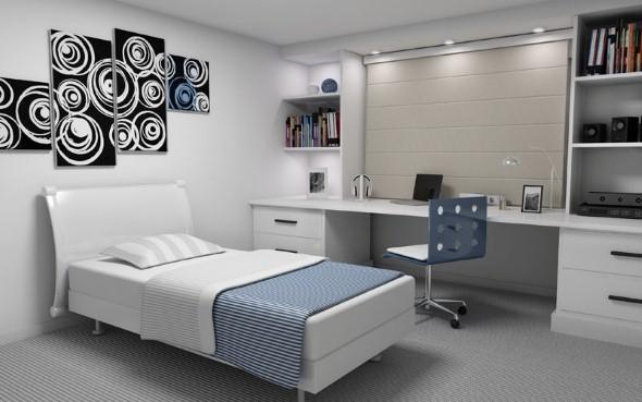 Dicas decoração quarto de solteiro Decorando Casas ~ Quarto Rustico De Solteiro