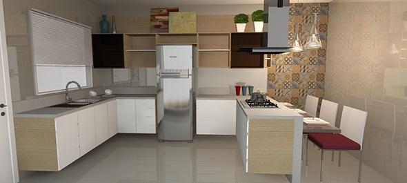 Pisos para cozinha fotos decorando casas - Azulejos grandes ...