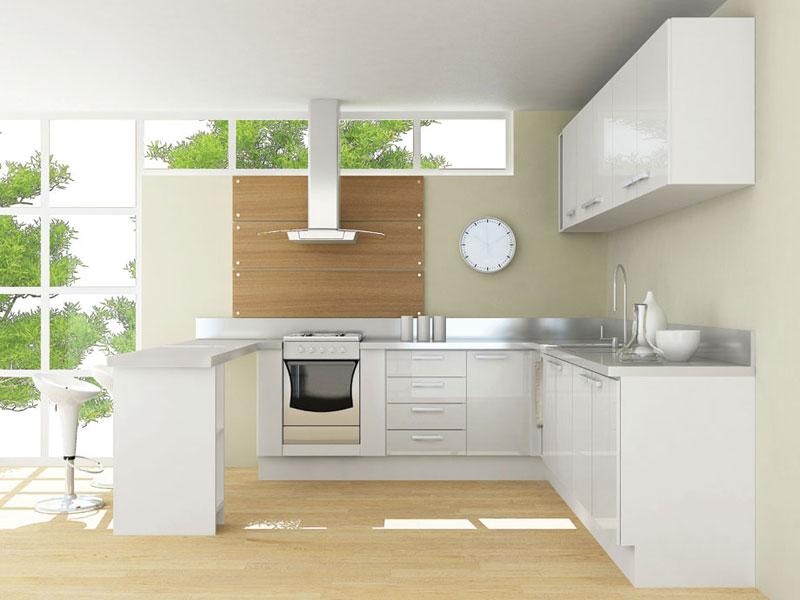Projeto de cozinha americana simples e aconchegante  Decorando Casas # Uma Cozinha Simples