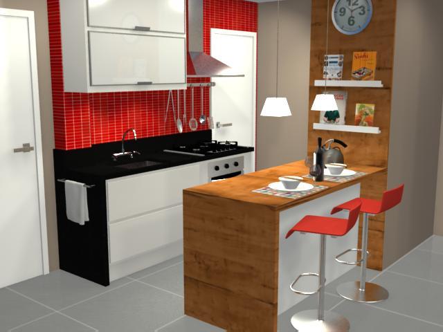 Cozinhas com quadros na parede
