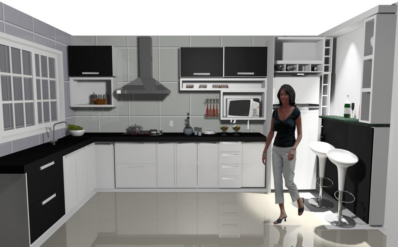 Projetos de cozinhas pequenas em l #60423B 1240 768