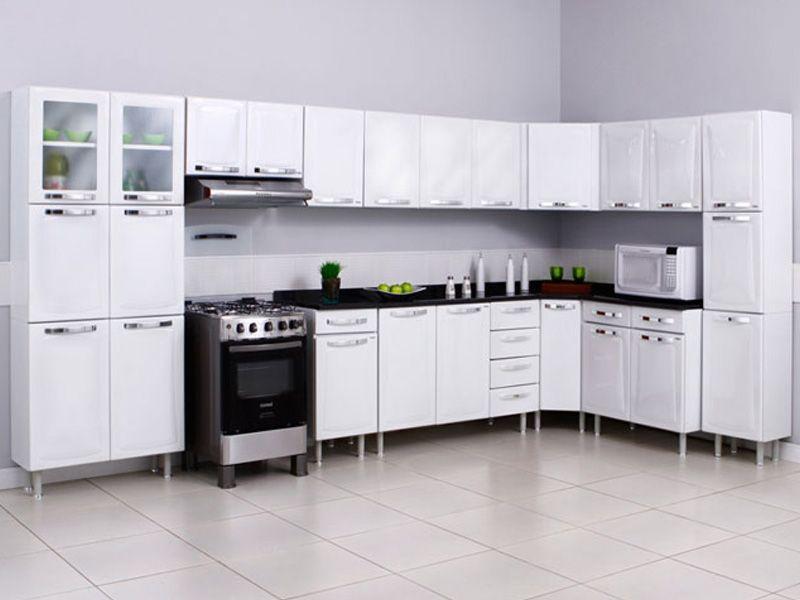 Modelos de armários de canto para cozinha  Decorando Casas # Utensilios Para Armario De Cozinha