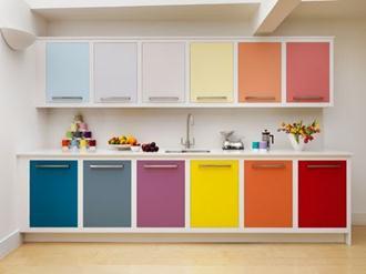 armários-cozinha-planejados-coloridos