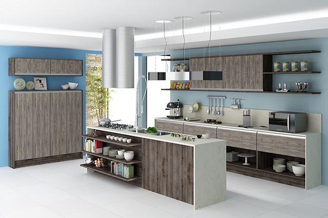Aparador Mdf Cru ~ Dicas de armários de cozinha planejados Decorando Casas