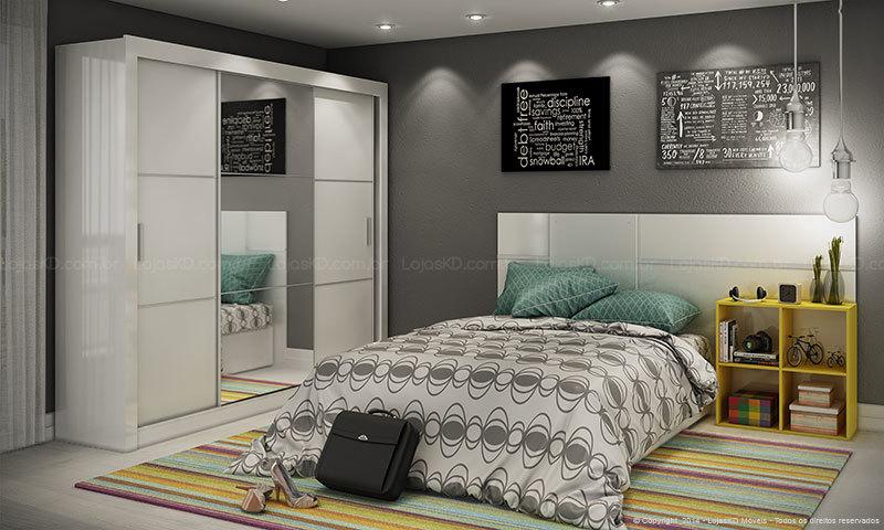 Como organizar quarto de casal pequeno Decorando Casas ~ Arrumando Quarto De Casal