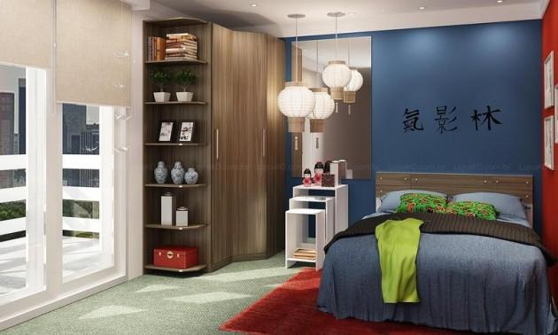 Como organizar quarto de casal pequeno decorando casas - Dormitorio masculino ...