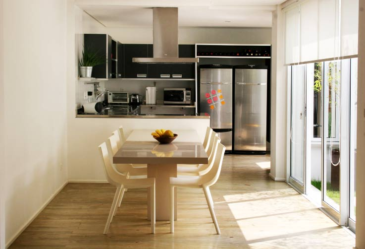 Sala Pequena Com Cozinha Americana ~ Cozinha americana pequena com sala de jantar  Decorando Casas