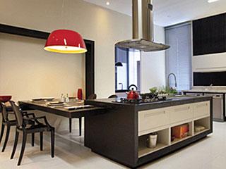 Cozinhas americanas pequenas com sala