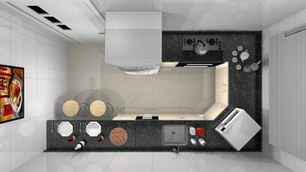 Plantas de cozinhas pequenas decorando casas for Modelos de apartamentos pequenos modernos