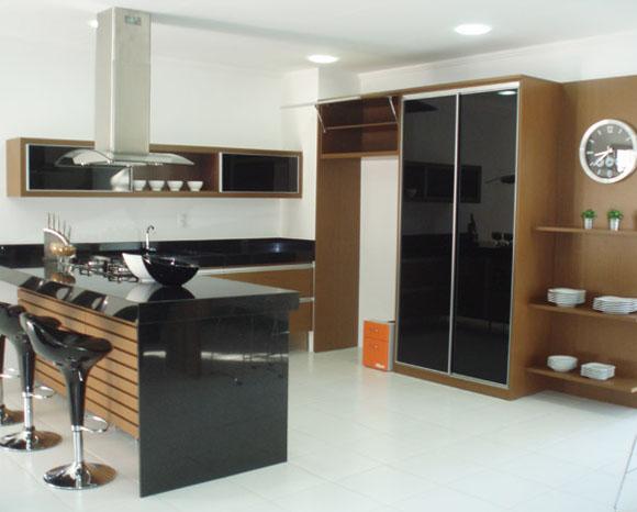 Projetos de cozinhas planejadas com ilha  Decorando Casas # Ilha Cozinha Altura