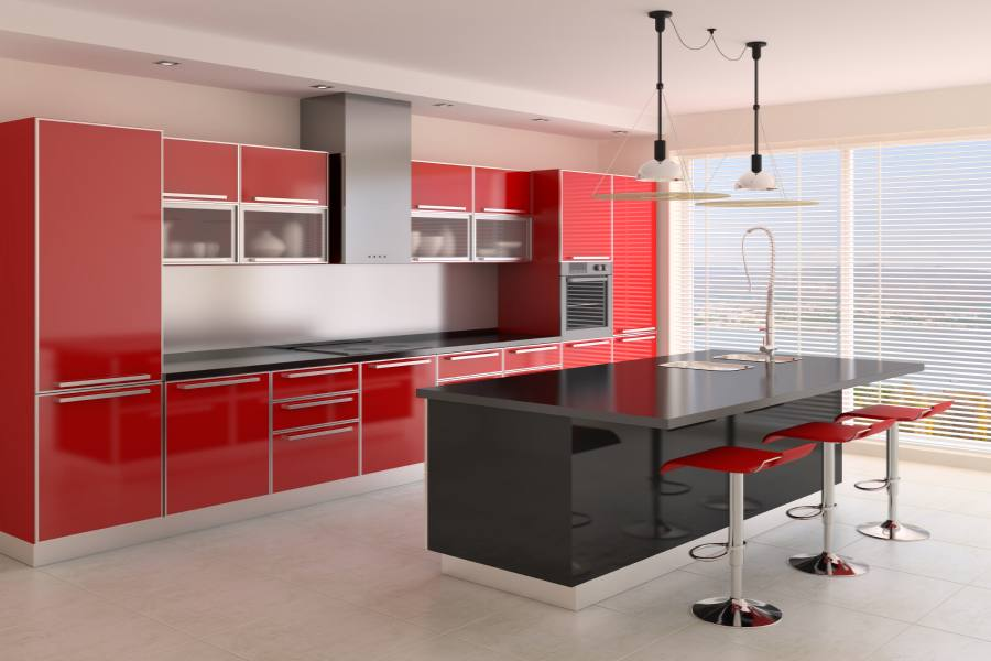 projetos de cozinhas planejadas com ilha decorando casas. Black Bedroom Furniture Sets. Home Design Ideas