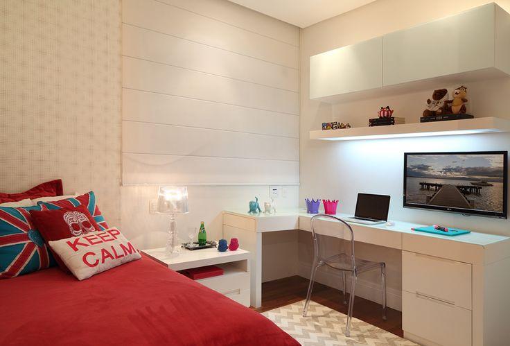 Dicas decoração quarto de solteiro Decorando Casas ~ Quarto Solteiro Com Tv Na Parede