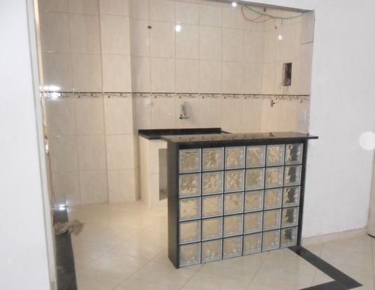 Balcão de cozinha com tijolo de vidro  Decorando Casas -> Armario De Banheiro Feito De Tijolo De Vidro