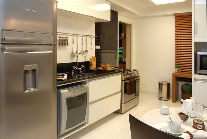 Como decorar cozinha de apartamento decorando casas for Decorar apartamento pequeno fotos