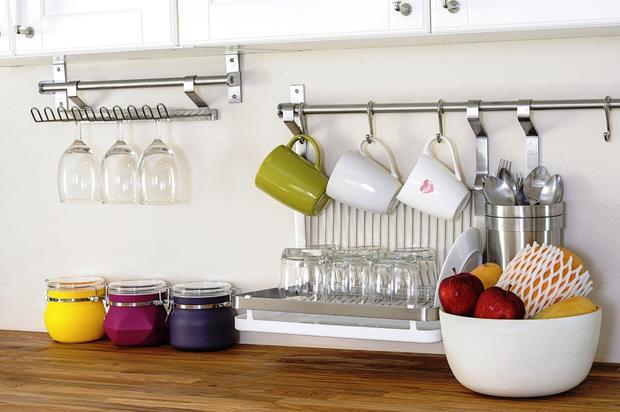Como decorar cozinha de maneira simples e barata  Decorando Casas # Uma Cozinha Simples