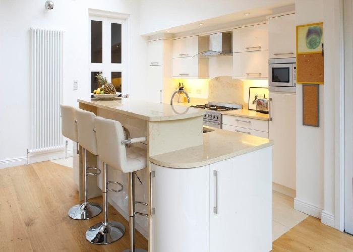 Another Image For cozinha americana pequena com sala simples