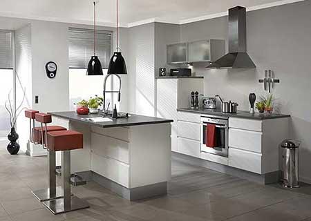 Decoração-de-cozinha-americana-pequena-simples-pisos