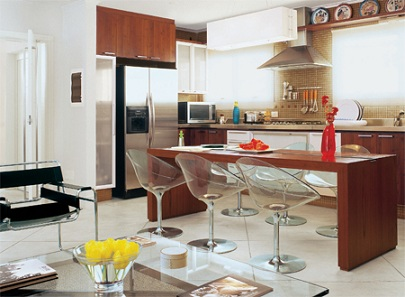 Decoração-de-cozinha-americana-pequena-simples