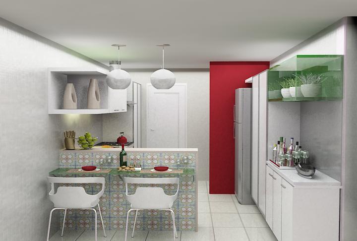 Decora o de cozinha americana pequena e simples decorando casas - Categoria a3 casa ...