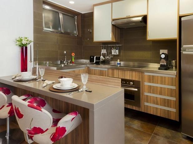 decoracao cozinha pequena simples:Decoração de cozinha americana pequena e simples