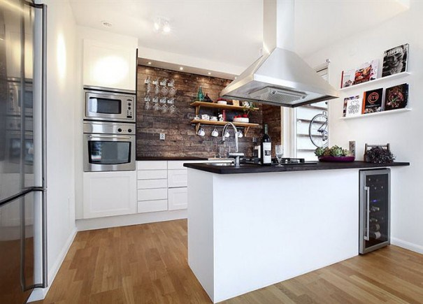 Resultado de imagem para cozinha com piso porcelanato madeira