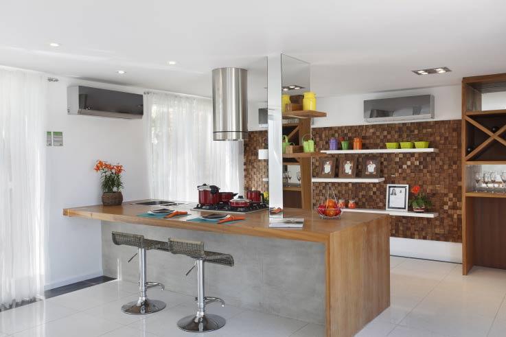 Balcão de cozinha de alvenaria | Decorando Casas
