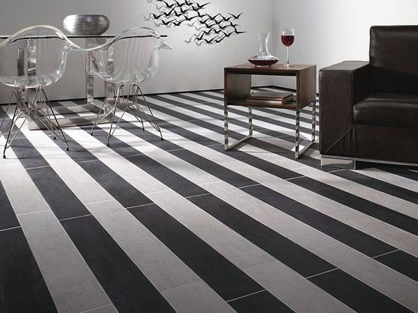 decoracao piso branco : decoracao piso branco:Pisos para cozinha preto e branco