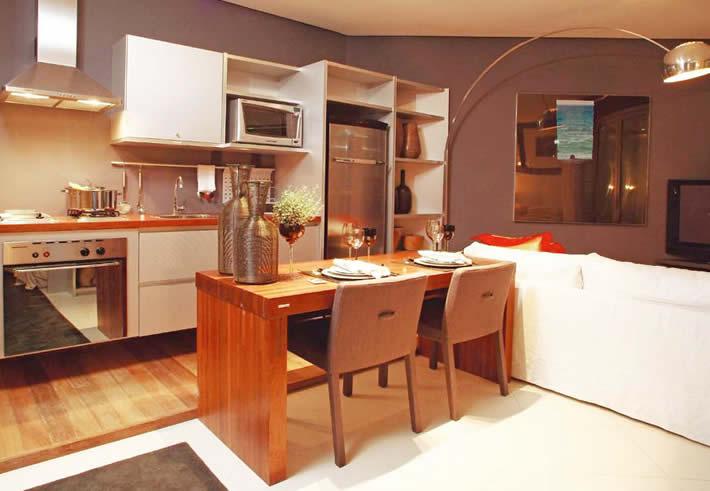 Sala De Jantar Lojas Americanas ~ Fotos de projetos de cozinhas americanas com sala de jantar