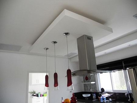 Rebaixamento de teto cozinha