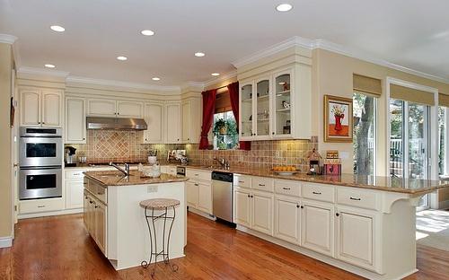 Cozinha com teto de gesso rebaixado Decorando Casas -> Decoração De Gesso No Teto Da Cozinha