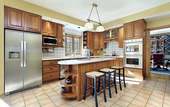 Decora o cozinha americana decorando casas - Casas americanas interior ...