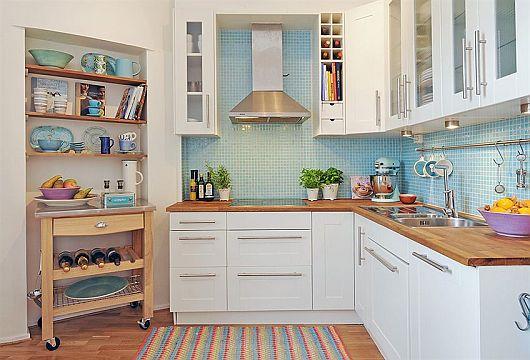Decoração cozinha simples e bonita  Decorando Casas # Cozinha Simples Com Pastilha