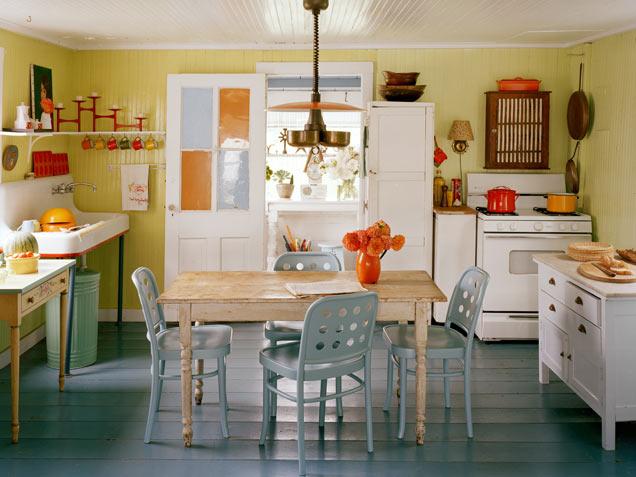 Decora o cozinha simples e bonita decorando casas - Fetching images of blue and yellow kitchen design and decoration ideas ...