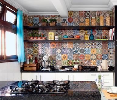 Revestimento de parede da cozinha mosaico decorando casas for Mosaicos de azulejos en paredes