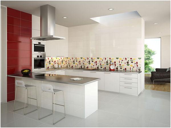 Revestimento parede cozinha em porcelanato decorando casas for Paredes de cocina decoradas