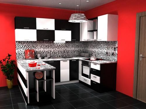 revestimento para parede da cozinha preto e branco decorando casas. Black Bedroom Furniture Sets. Home Design Ideas