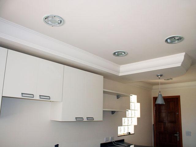 Cozinha com teto de gesso u2013 Dicas e Fotos Decorando Casas -> Decoração De Forro De Gesso Para Cozinha