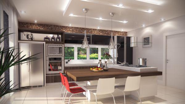 Cozinha com teto de gesso u2013 Dicas e Fotos Decorando Casas # Decoracao De Teto Gesso