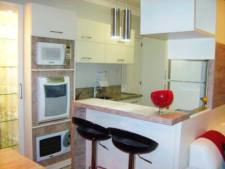Cozinha planejada americana para apartamento pequeno for Modelos de mini apartamentos