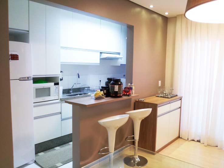 Cozinha planejada americana para apartamento pequeno for Acabados para apartamentos pequenos