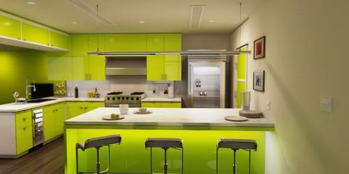 Decoração cozinha verde  Decorando Casas # Armario De Cozinha Verde E Branco