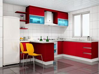 Decoração-da-cozinha-com-vermelho-e-branco