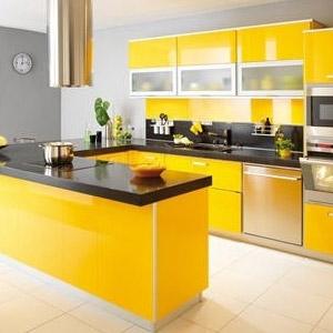 Decora o de cozinha na cor amarela decorando casas for Mobilia cuisine