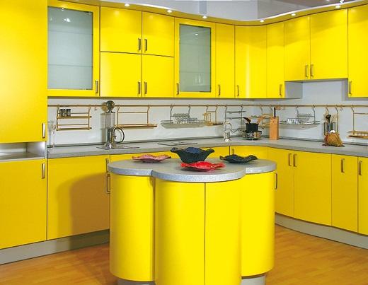 decoracao na cozinha:Decoração de cozinha na cor amarela
